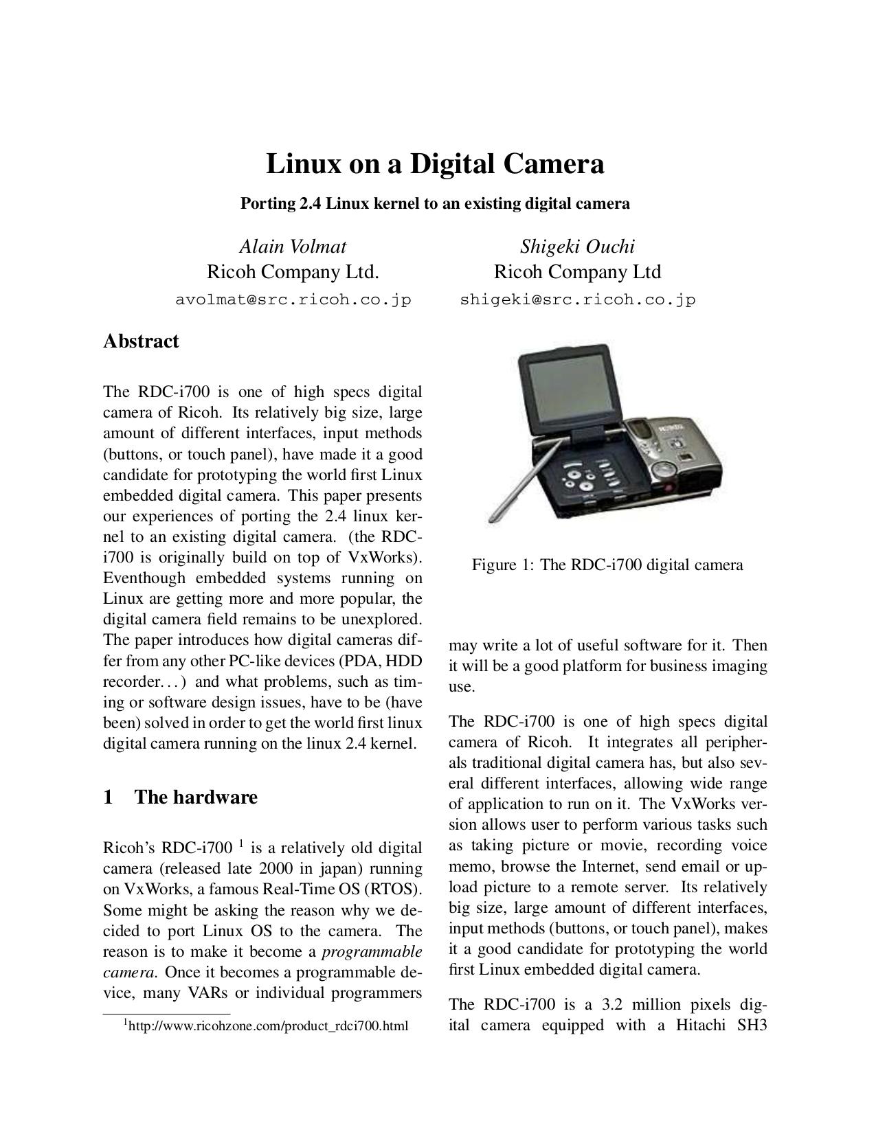 Download free pdf for Ricoh RDC-i700 Digital Camera manual