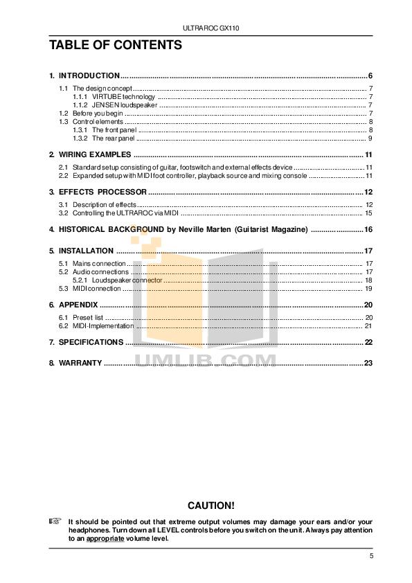 PDF manual for Fender Guitar American Standard