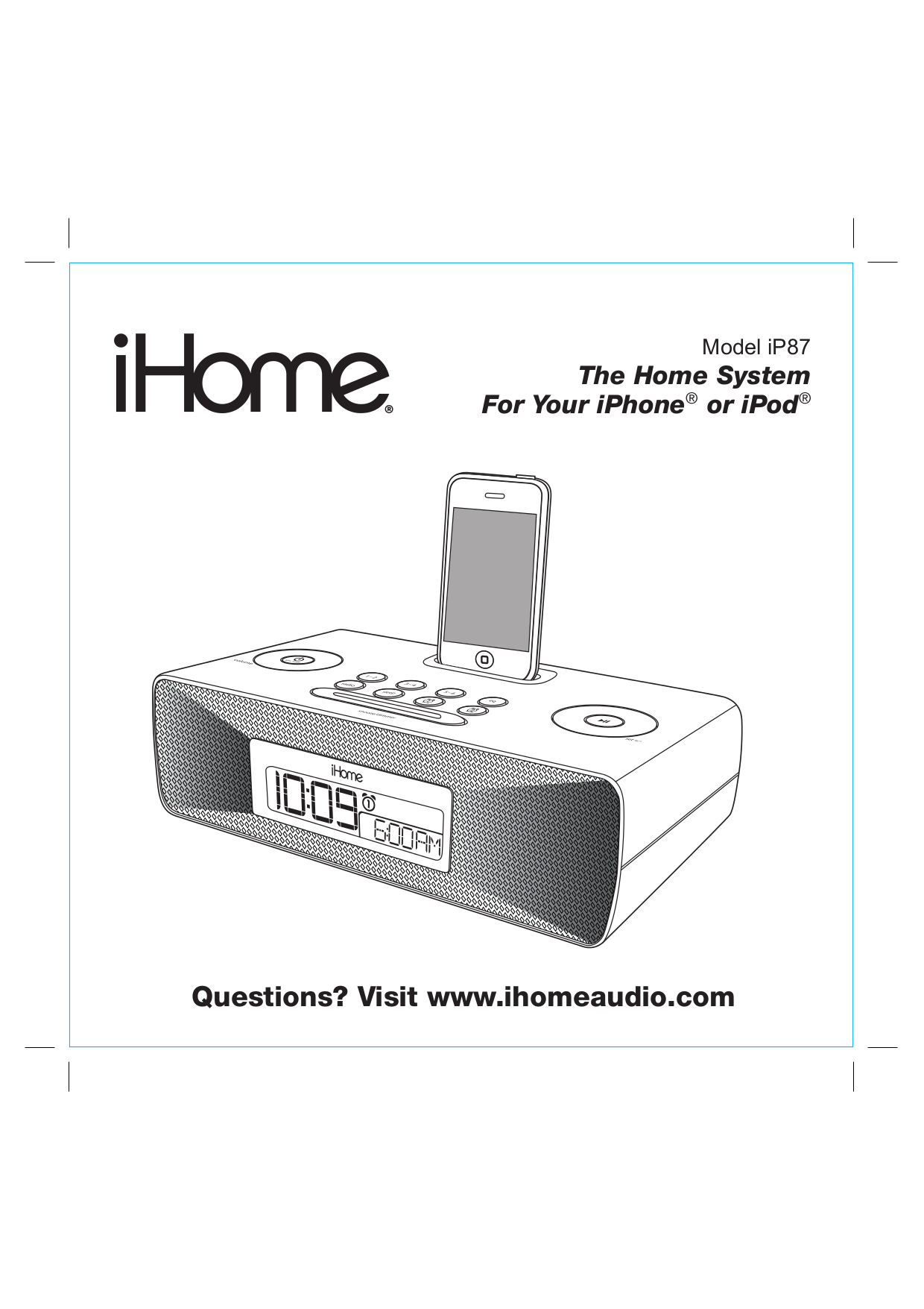download free pdf for ihome ip9 clock radio manual rh umlib com White iHome Portable Speakers iHome iP9 Won't Turn On