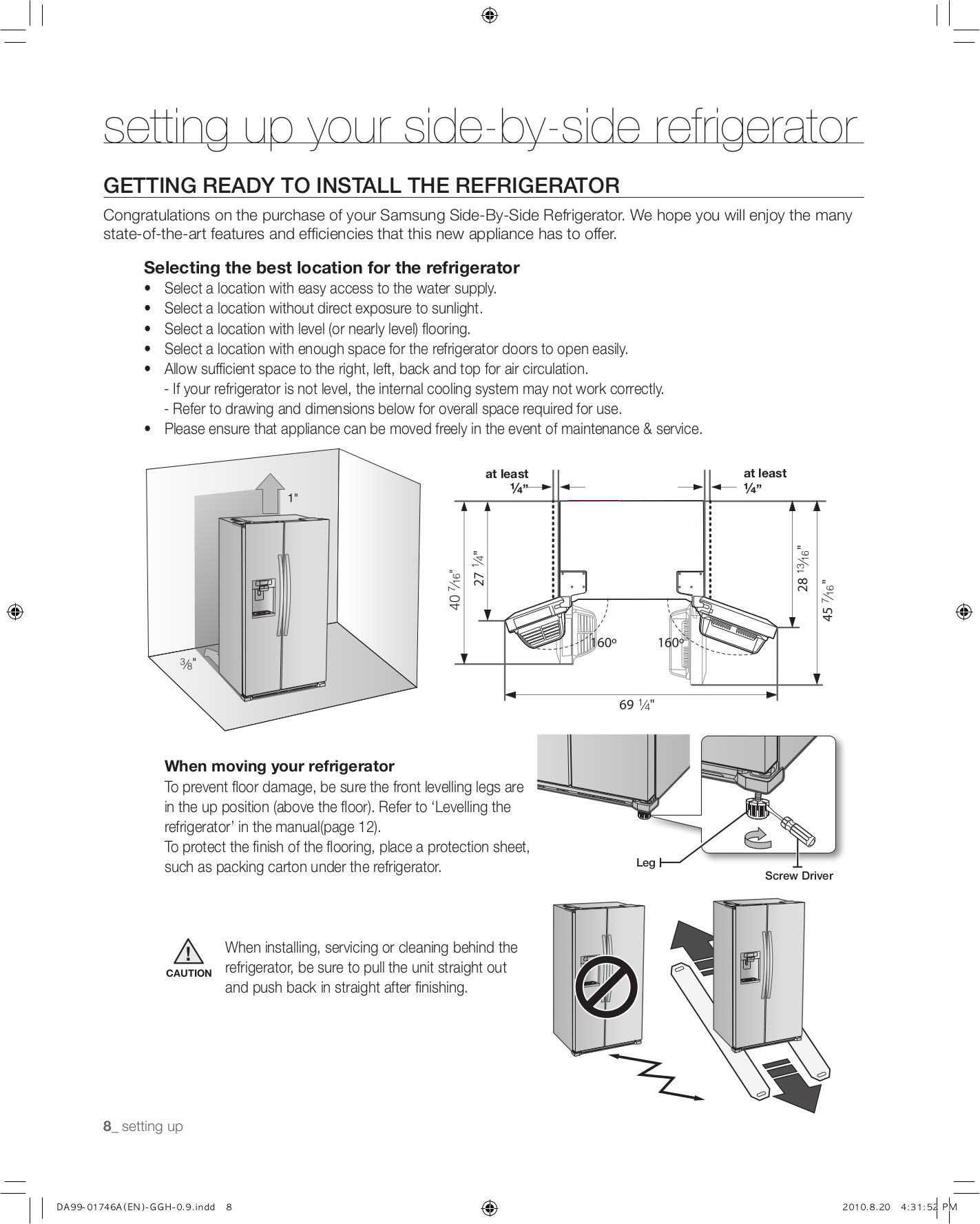 Samsung Refrigerator RSG257AARS pdf page preview