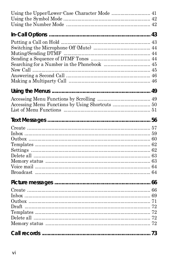 Samsung Cell Phone SGH-C225 pdf page preview