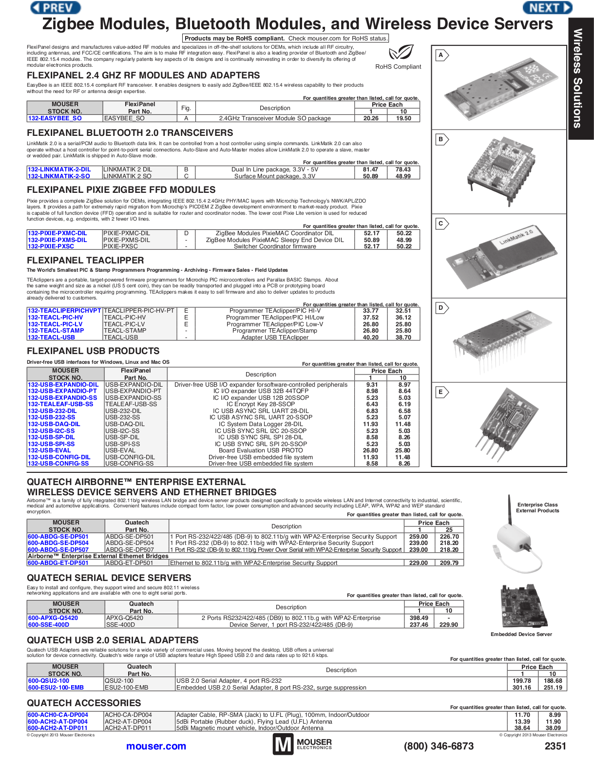pdf for Quatech Other QSU2-100 Adapters manual