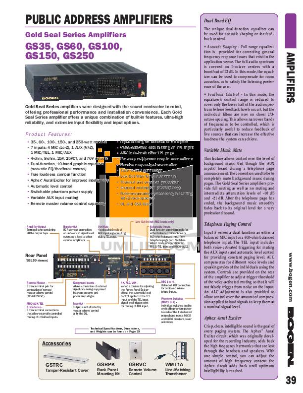 BOGEN AMPS MIXERS.pdf 3 wat bogen gs250 schematic 100 images bogen communications gs100  at honlapkeszites.co