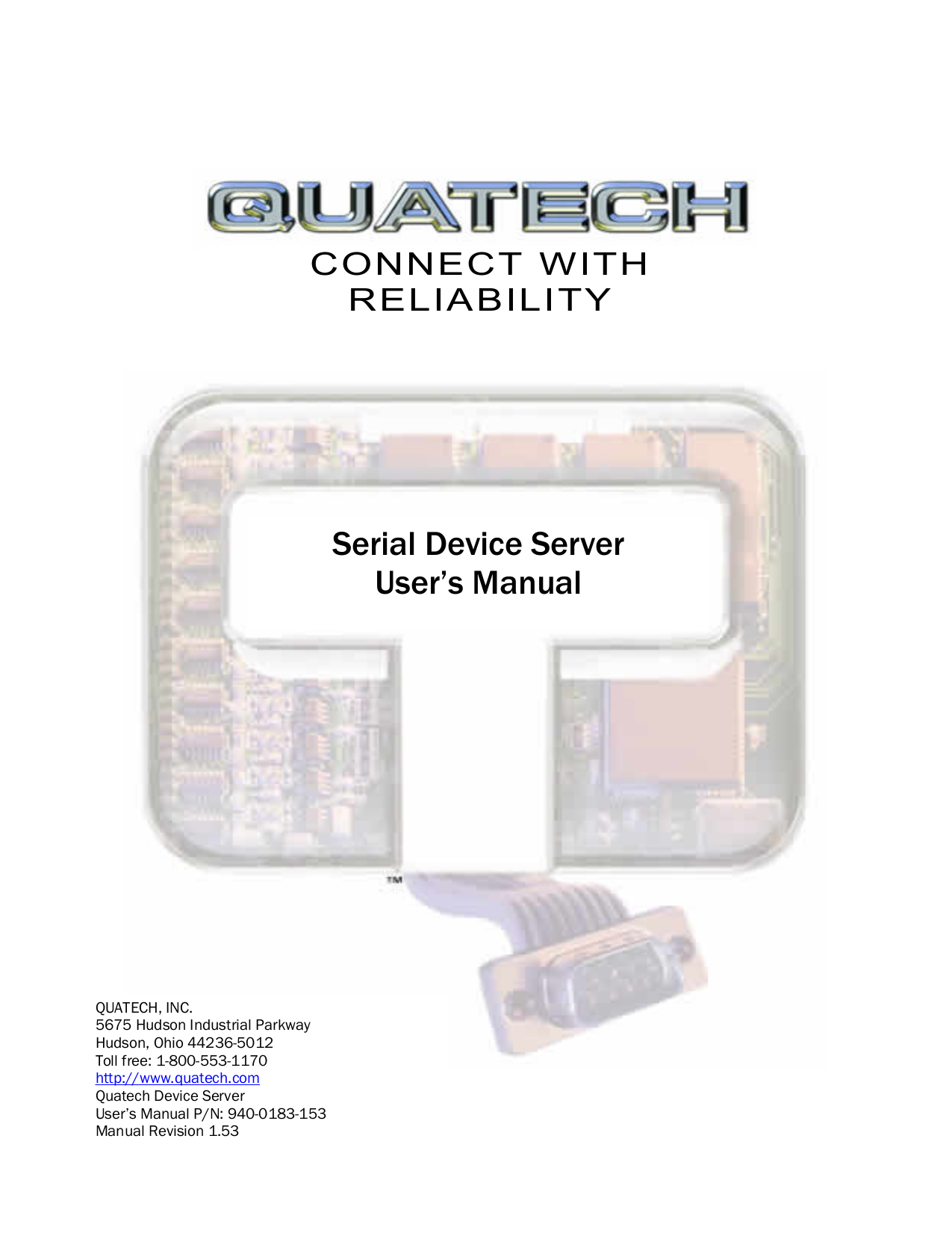 pdf for Quatech Other DSEW-100D-5V Servers manual