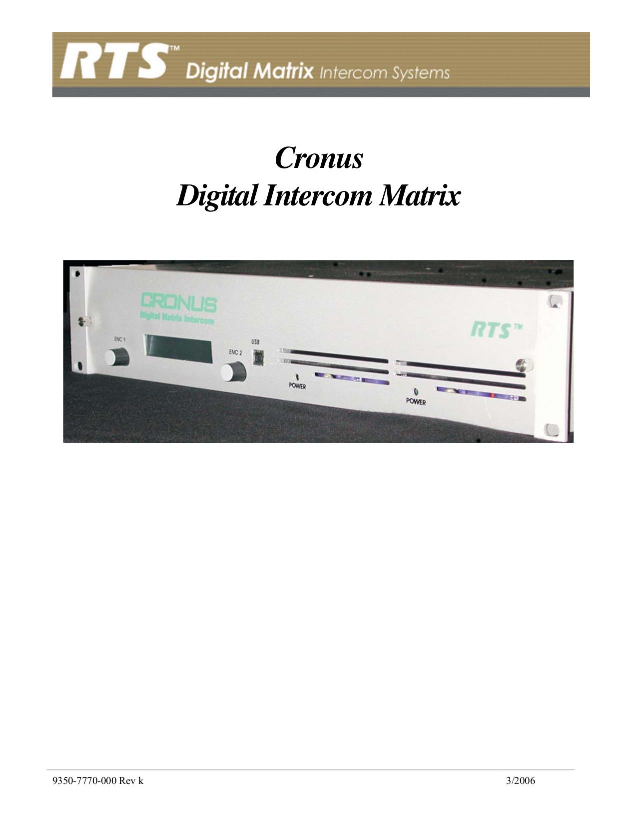 pdf for Telex Other XCP-16-DB9-T IntercomSystem manual