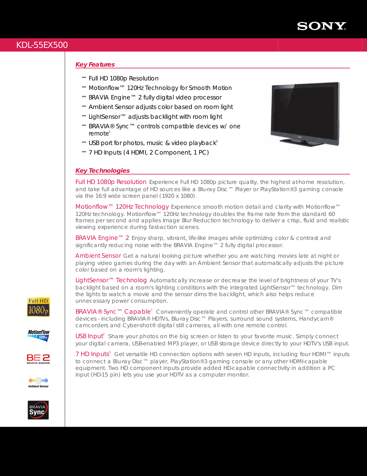 download free pdf for sony bravia kdl 55ex500 tv manual rh umlib com Sony BRAVIA 55-Inch Sony Bravia TV Problems