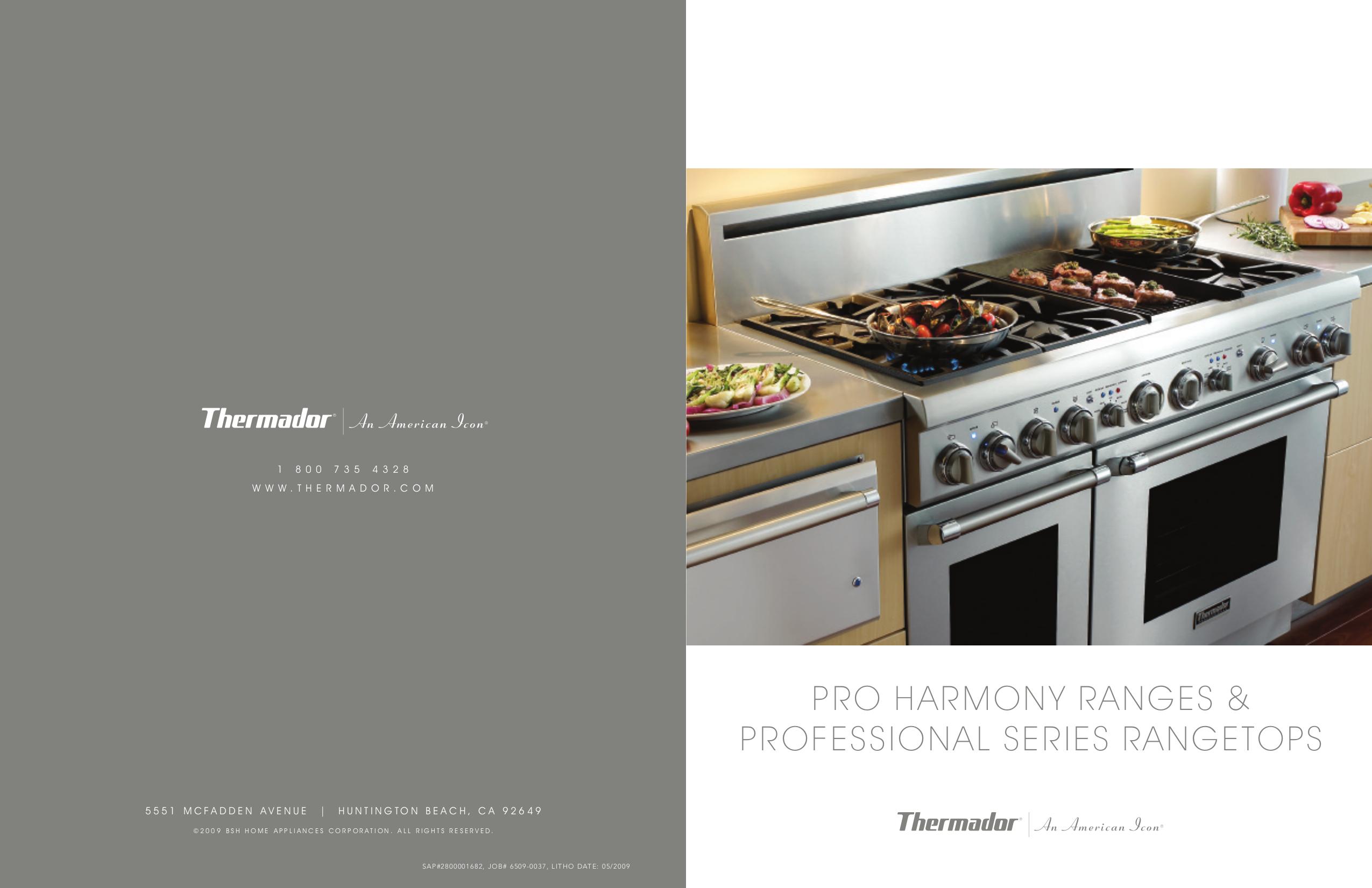 Download free pdf for thermador prl486edg range manual.