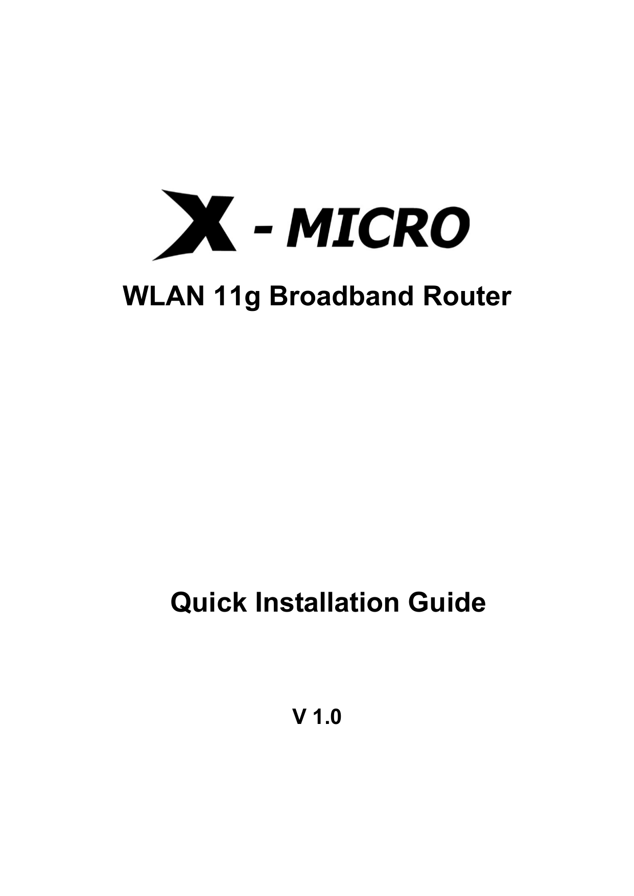 pdf for X-Micro Router XWL-11GRTX manual
