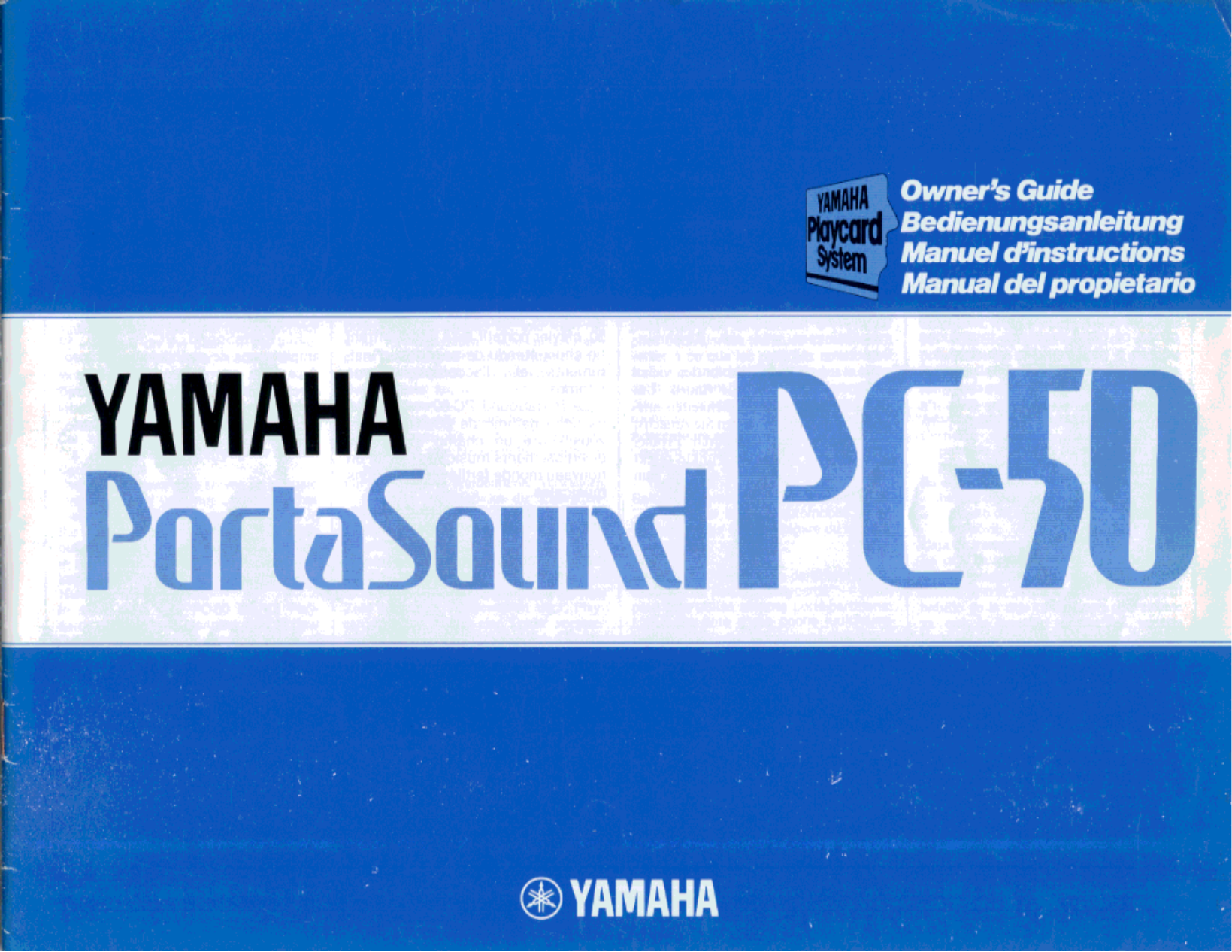 Download free pdf for Yamaha PC-50 Music Keyboard manual
