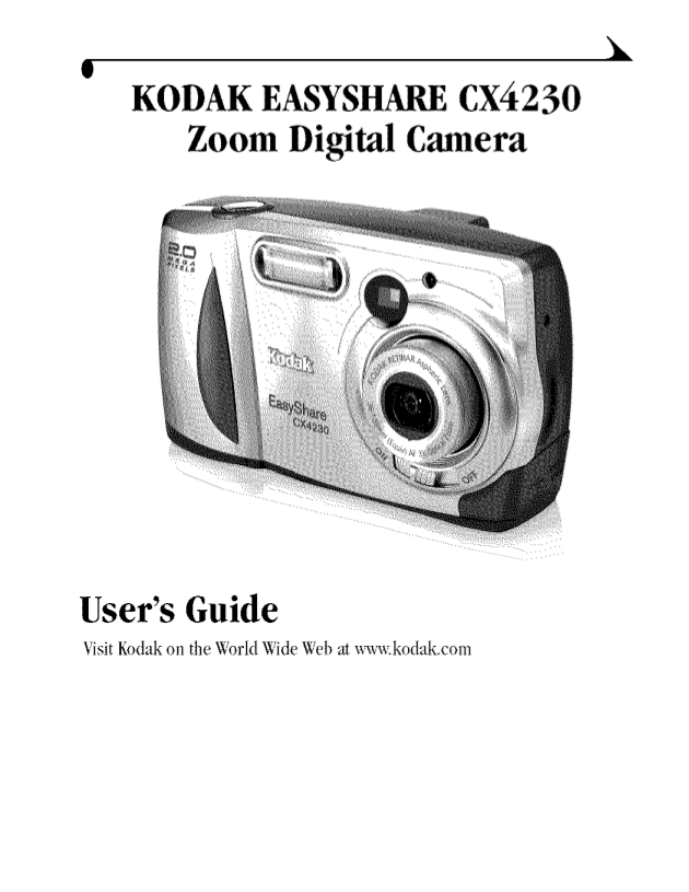 pdf manual for kodak digital camera easyshare cx4230 Owner's Manual Kodak EasyShare Kodak EasyShare Cameras