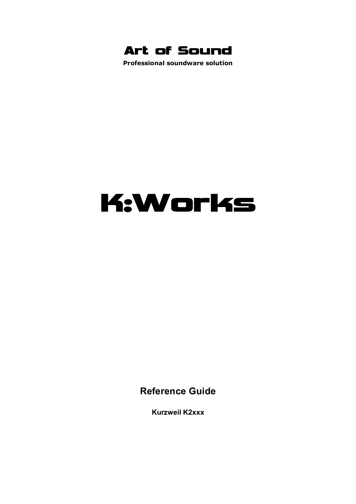 pdf for Kurzweil Music Keyboard K2661 manual