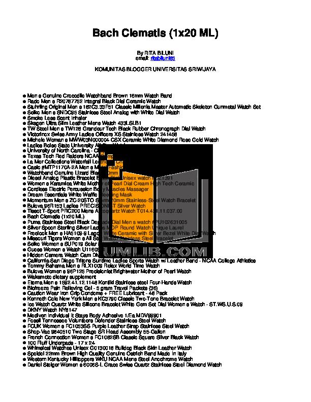 pdf for Diesel Watch DZ1391 manual