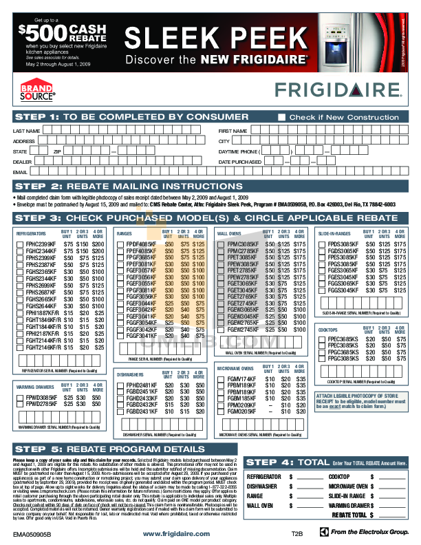 pdf for Frigidaire Refrigerator Gallery FGHS2344KF manual