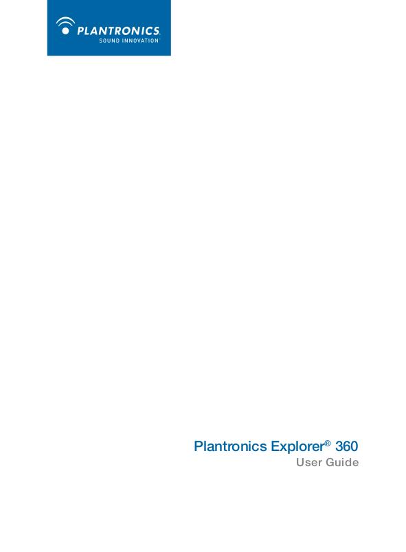 download free pdf for plantronics explorer 360 headset manual rh umlib com Plantronics Explorer 360 Mono Earset Explorer 360 Extreme