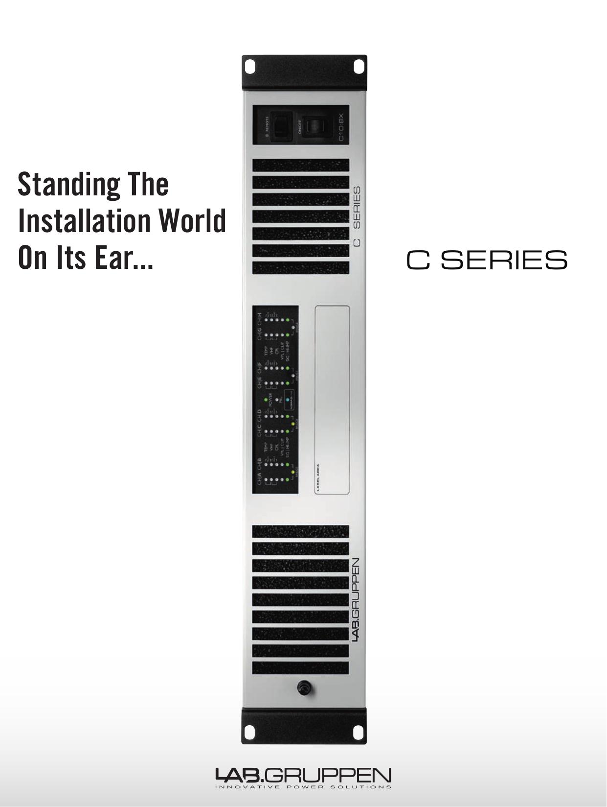 pdf for Lab.gruppen Amp C Series C 10 4X manual