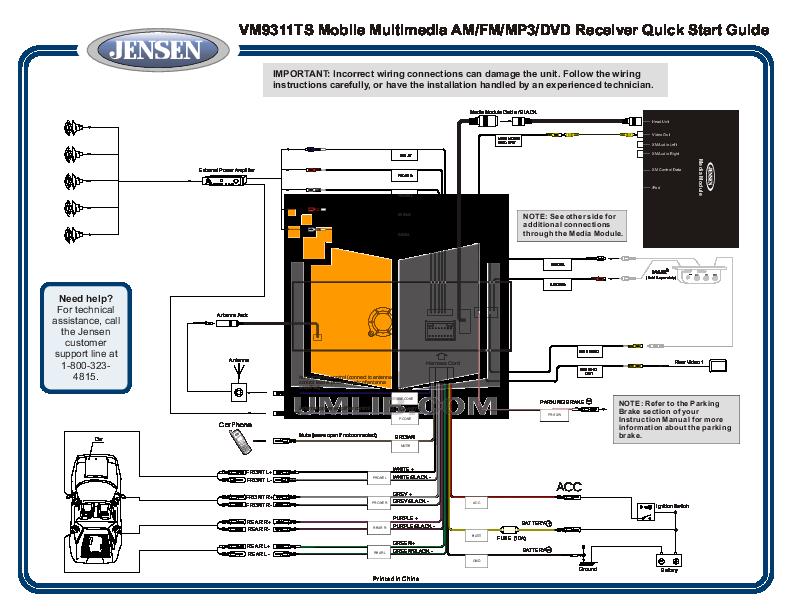 Jensen Vm9311ts Wiring Diagram - Electrical Wiring Diagram •