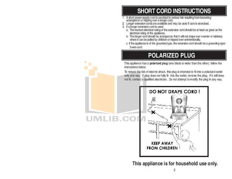 Aroma Coffee Maker AEM-646A pdf page preview