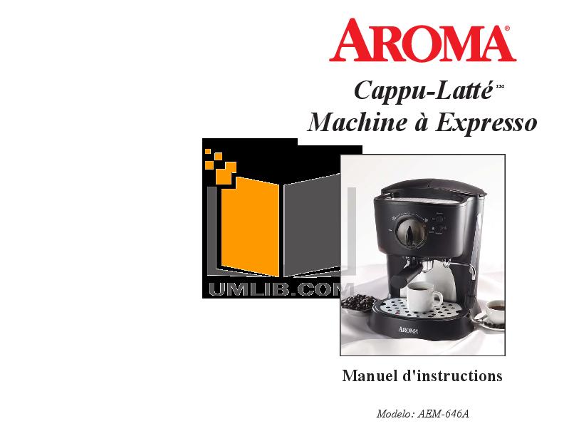 pdf for Aroma Coffee Maker AEM-646A manual