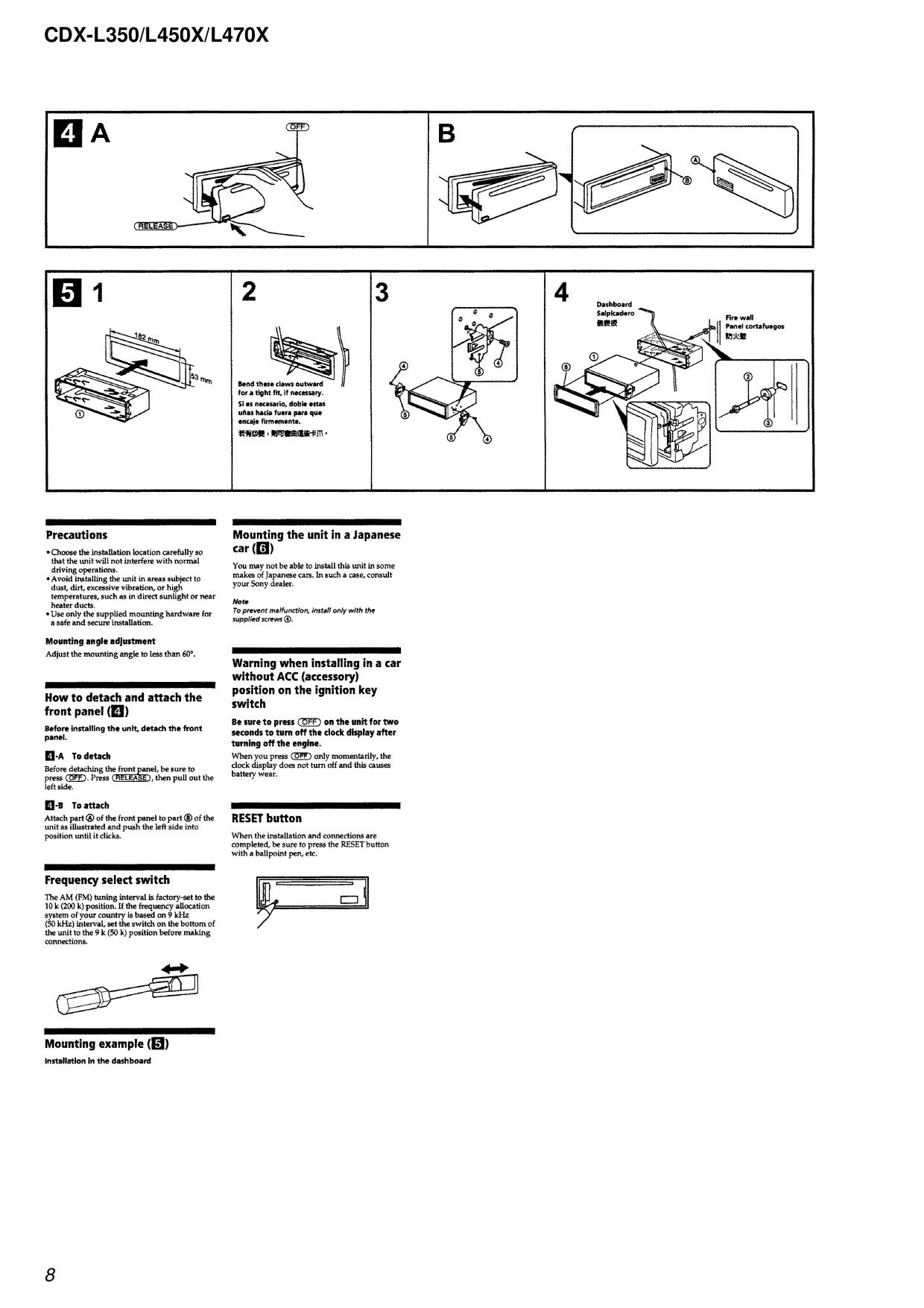 PDF manual for Sony Car Receiver CDX-L350 on sony cdx-gt270mp, sony cdx-gt575up, sony portable cd player, sony cdx-gt260mp, sony single din dvd car stereo,