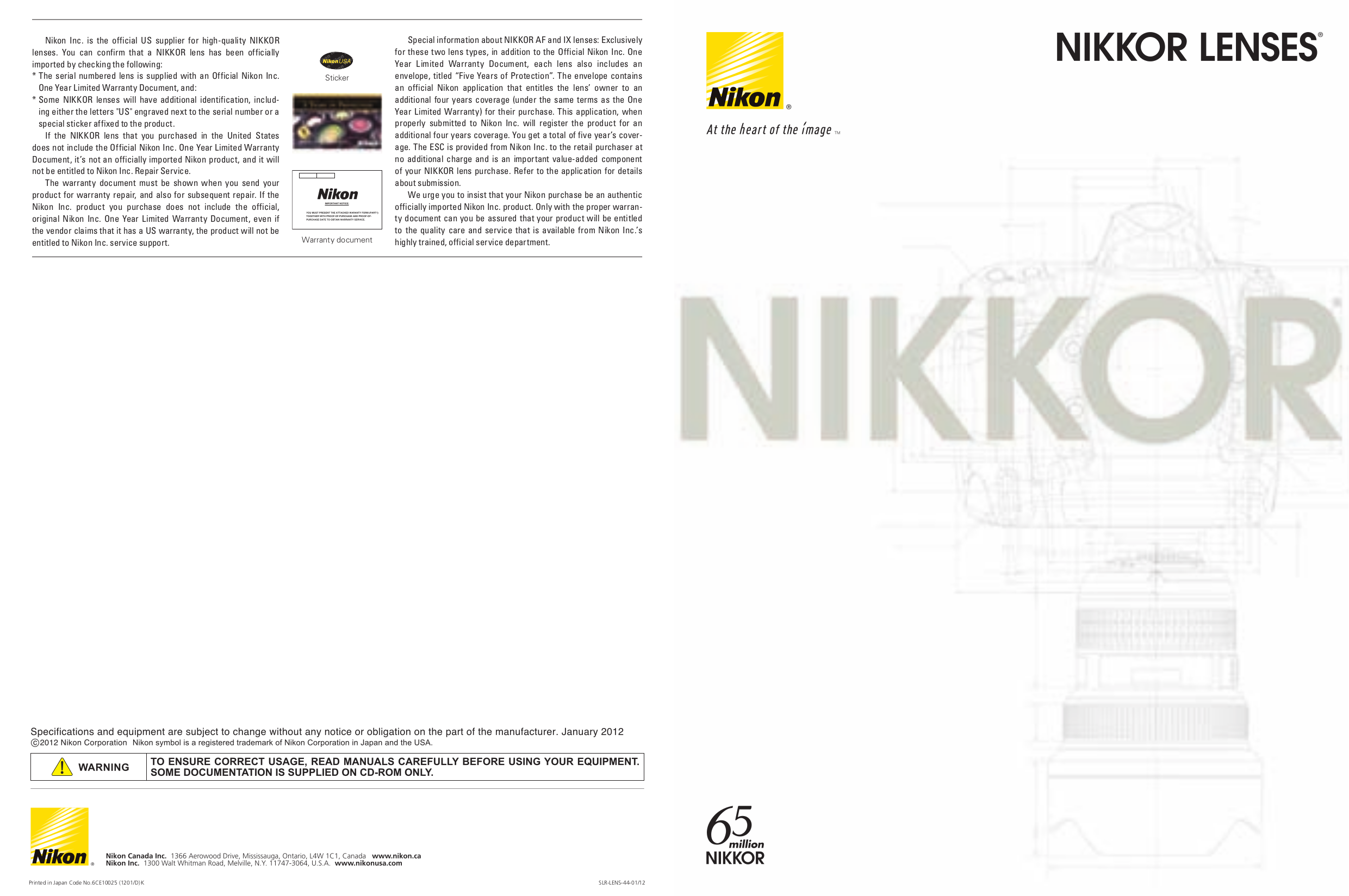 Download free pdf for Nikon TC-14E II Camera Teleconverters