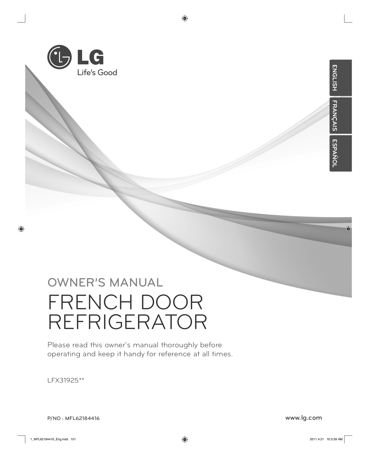 Download Free Pdf For Lg Lfx31925 Refrigerator Manual Schematics