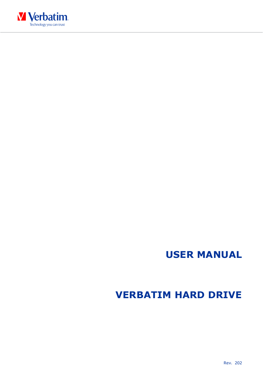 pdf for Verbatim Storage Acclaim 320GB manual