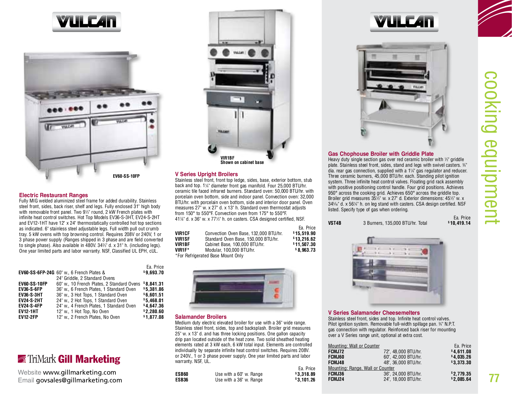 Vulcan Oven VC6ED pdf page preview