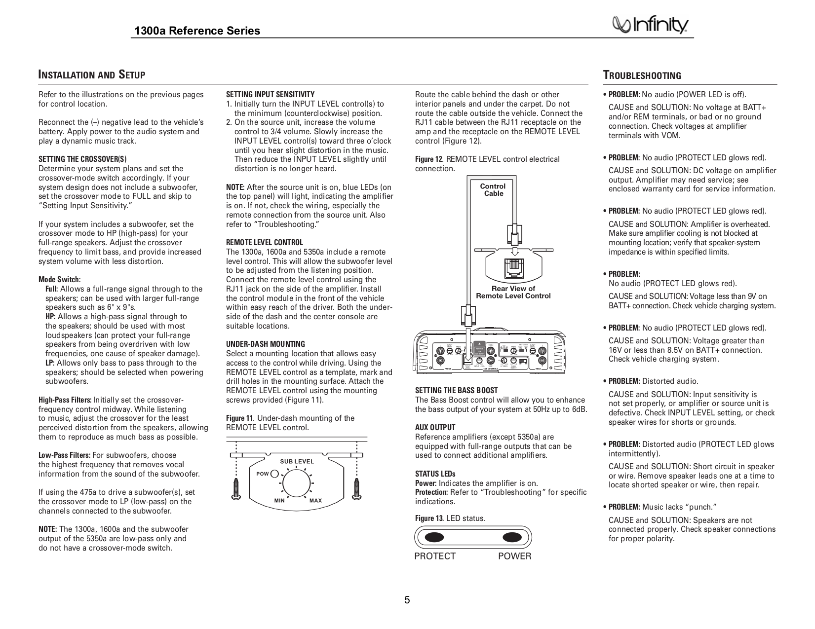 infinity 5350a. infinity car amplifier reference 1300a pdf page preview 5350a