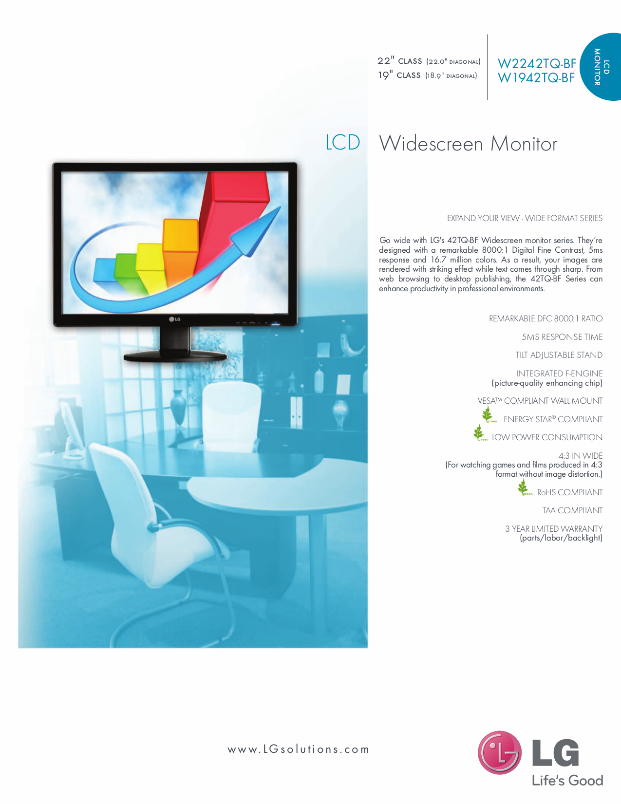 pdf for LG Monitor W1942S manual