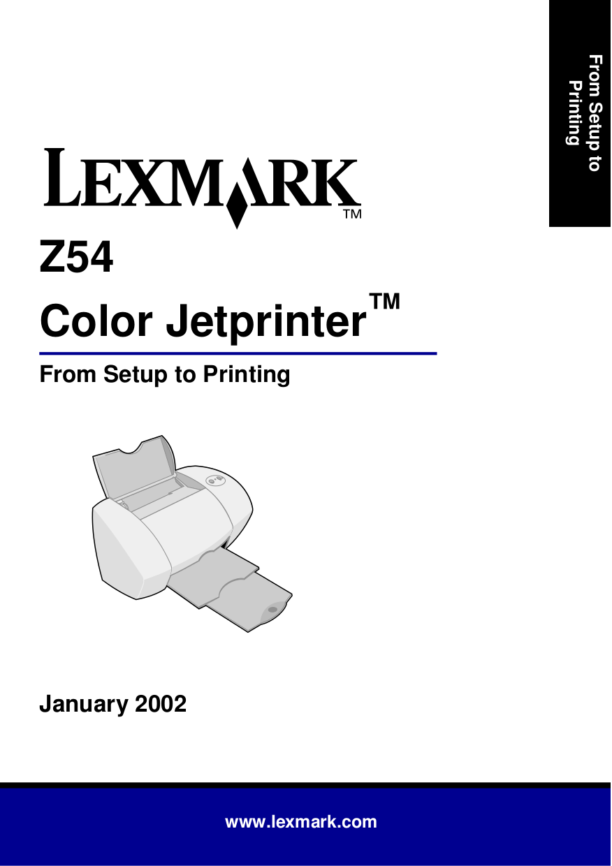 pdf for Lexmark Printer Z54 manual