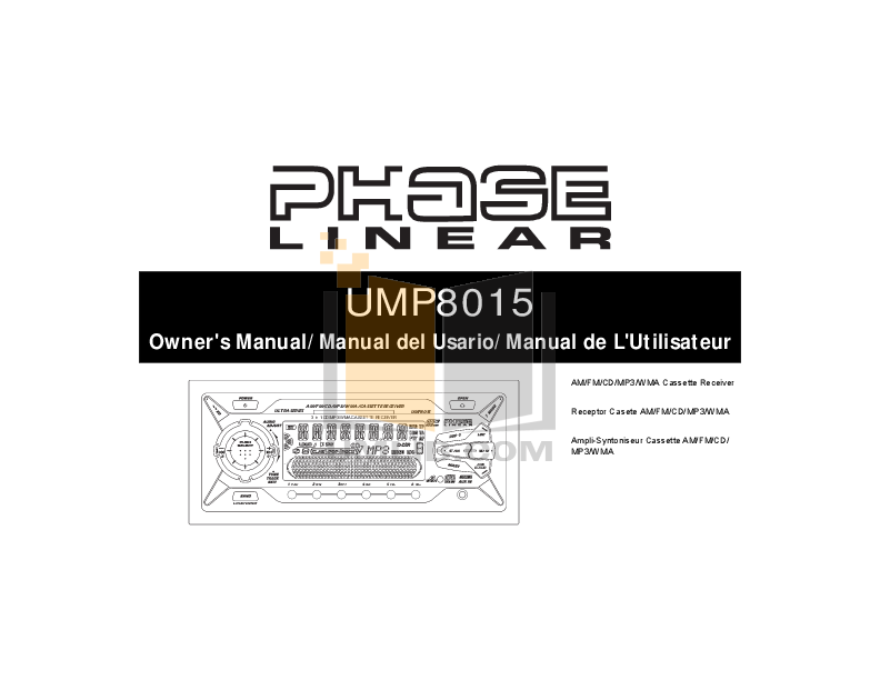pdf for Audiovox Car Receiver UMP8015 manual