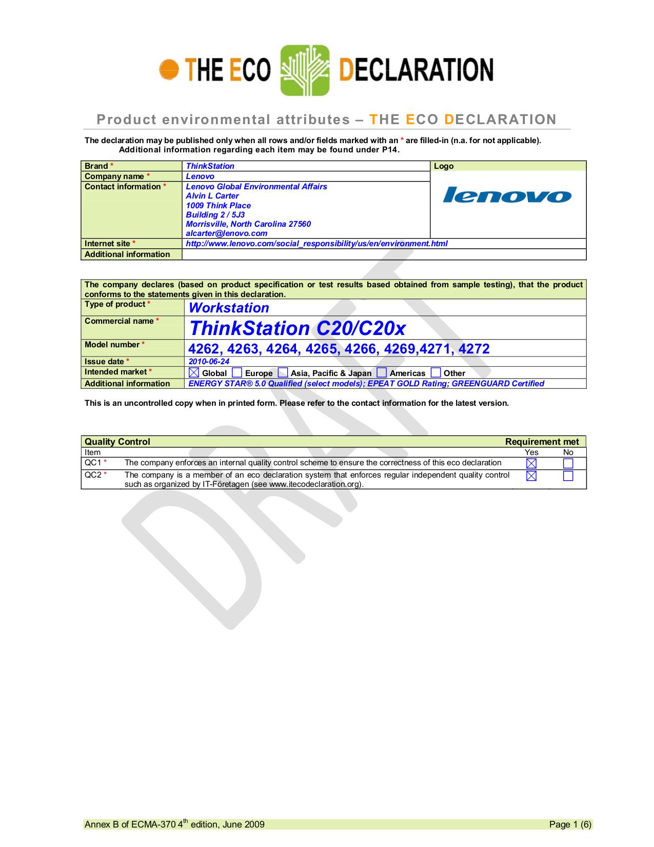 pdf for Lenovo Desktop ThinkStation C20 4265 manual