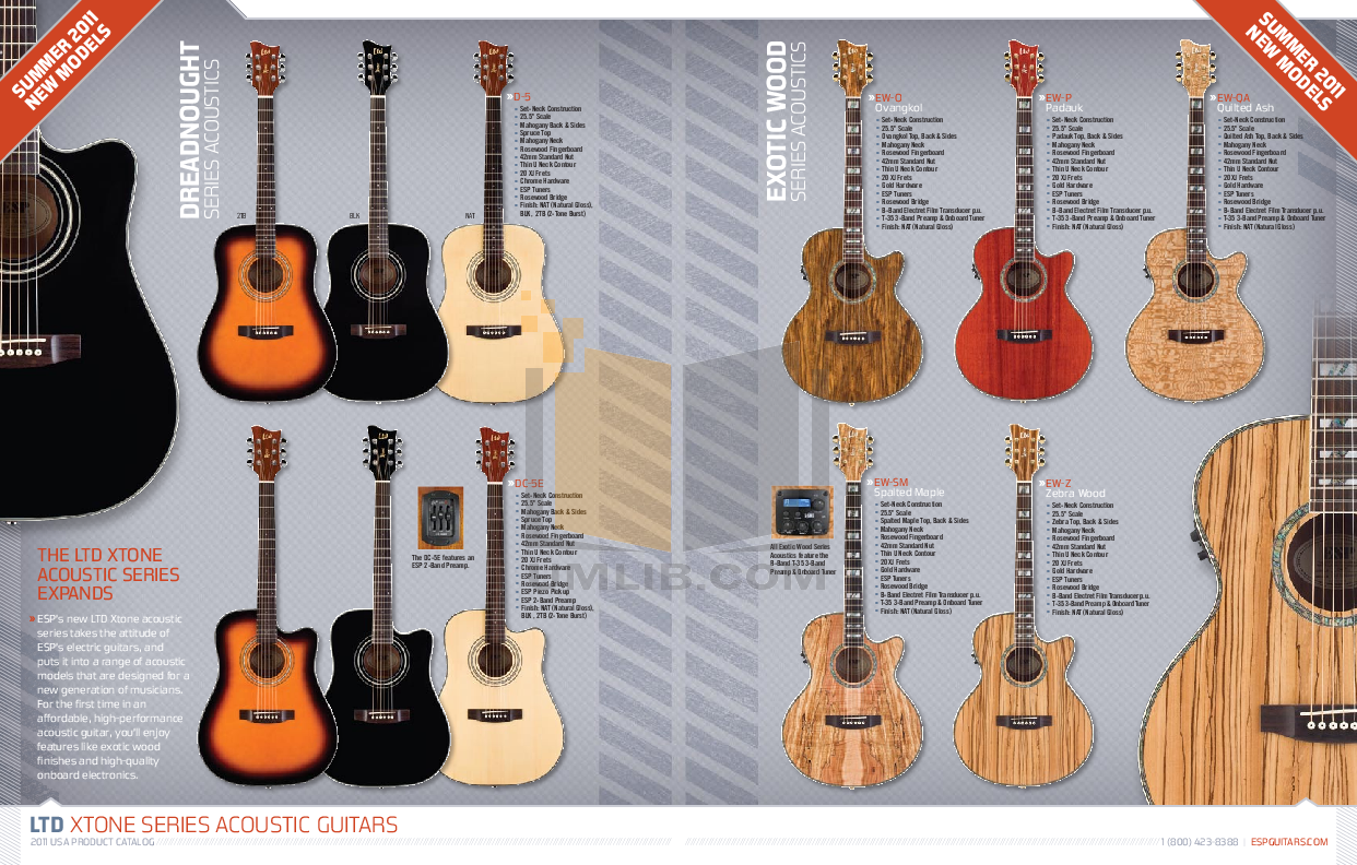 ESP Guitar F-155DX pdf page preview