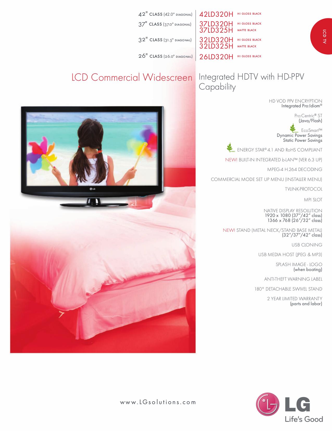 pdf for LG TV 32LD320H manual