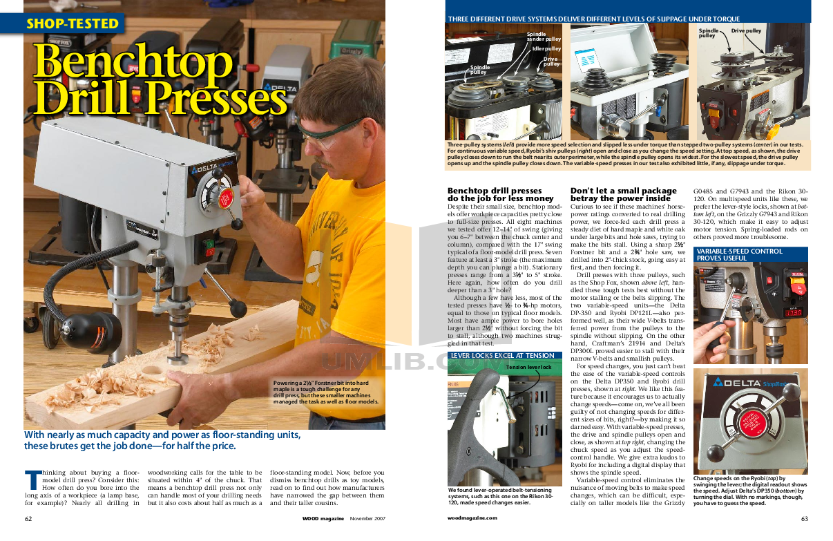pdf for Grizzly Other G0485 Drill Press manual