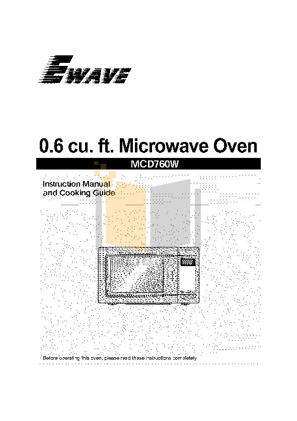 pdf for Daewoo Microwave EW6F6W manual