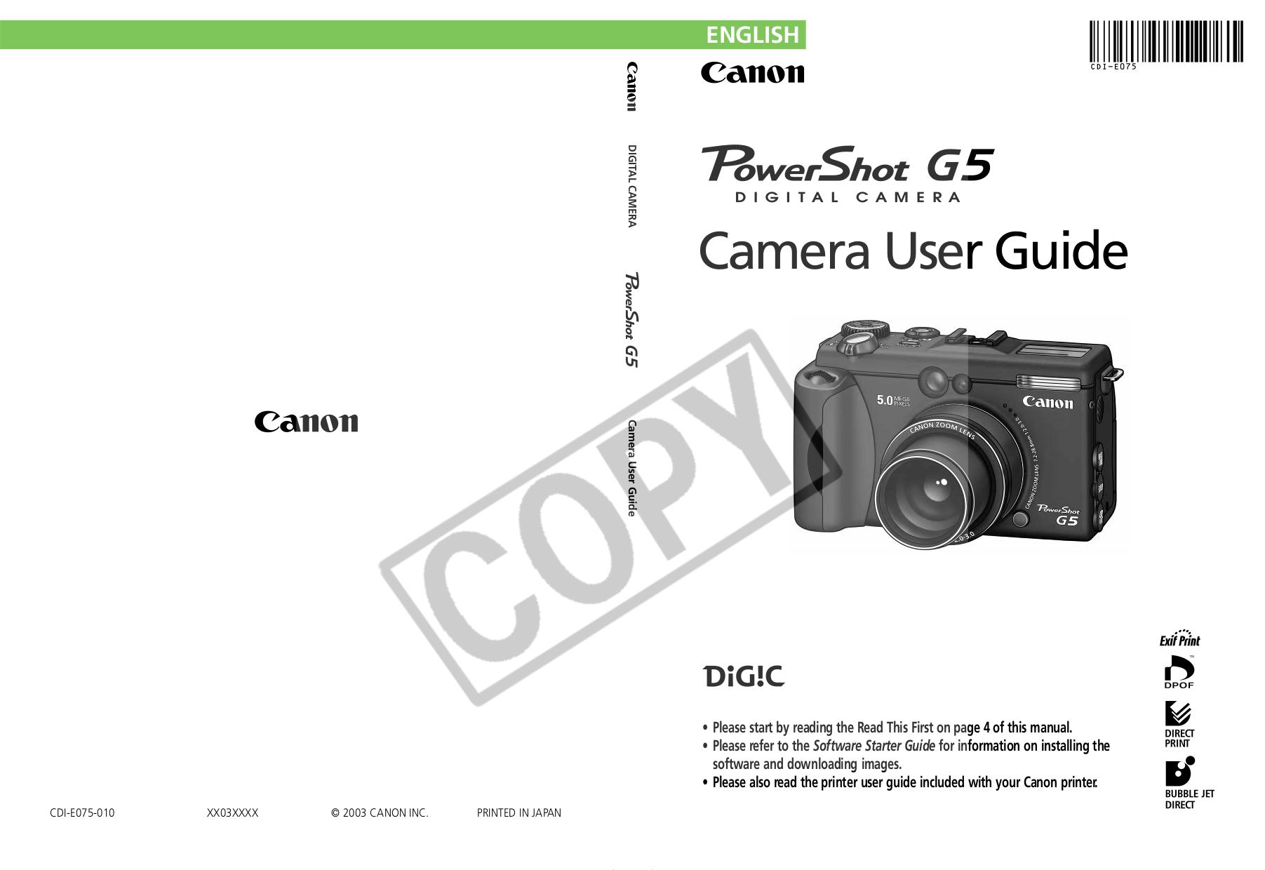 Canon Powershot S315 User Manual Flytracker border=