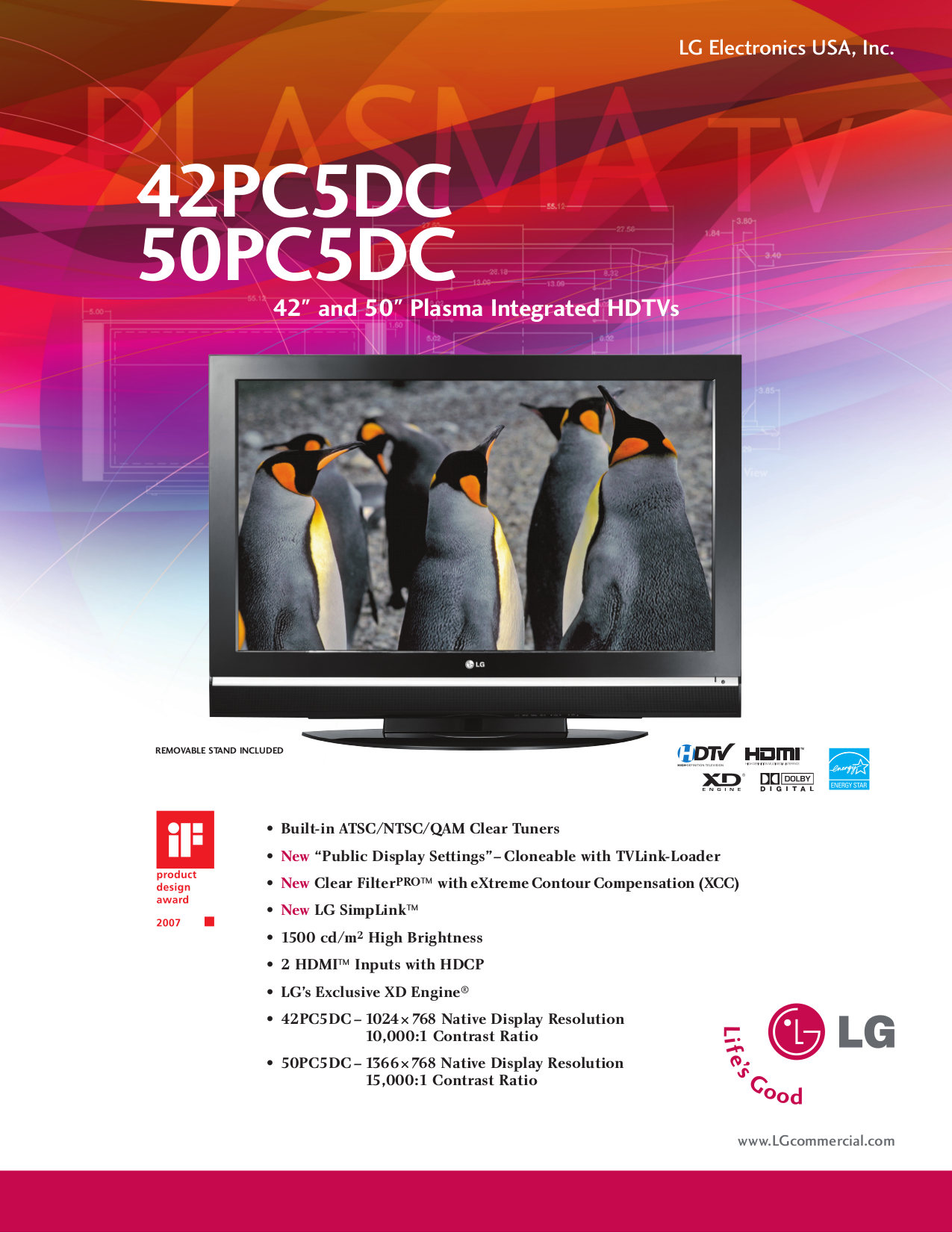 download free pdf for lg 42pc5dc tv manual
