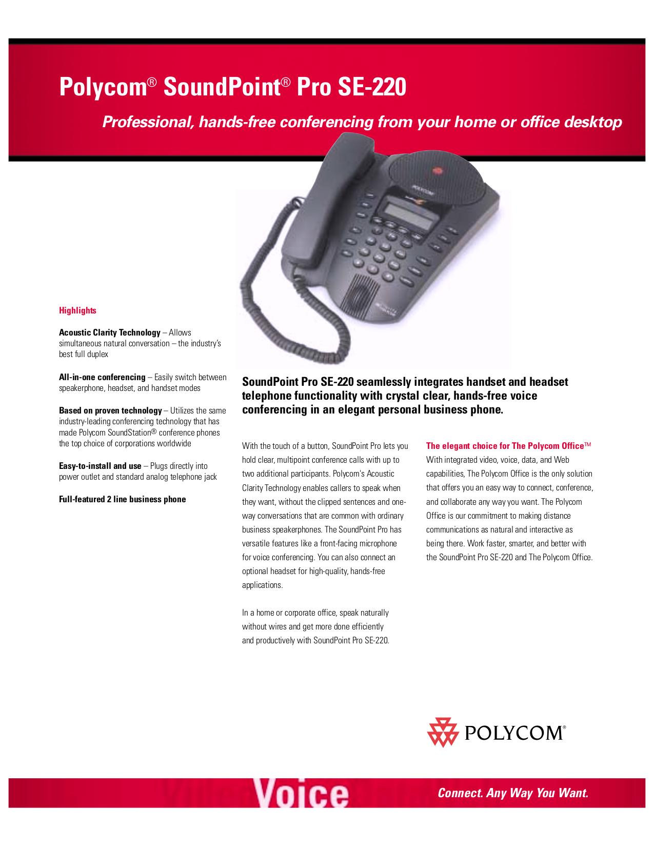 download free pdf for polycom soundpoint pro se 220 telephone manual rh umlib com polycom soundpoint pro se-225 manual polycom soundpoint pro se-225 corded phone manual