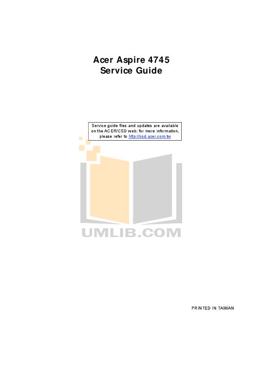 pdf for Acer Desktop AcerPower M5 manual