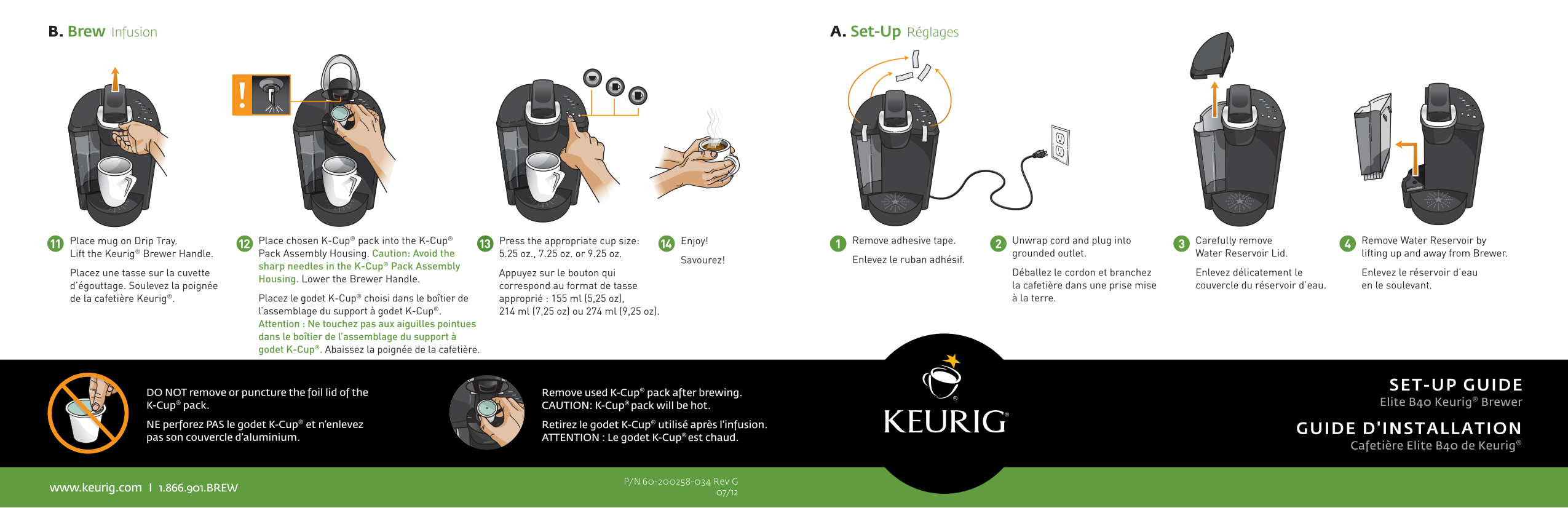 Keurig Elite B40 Manual