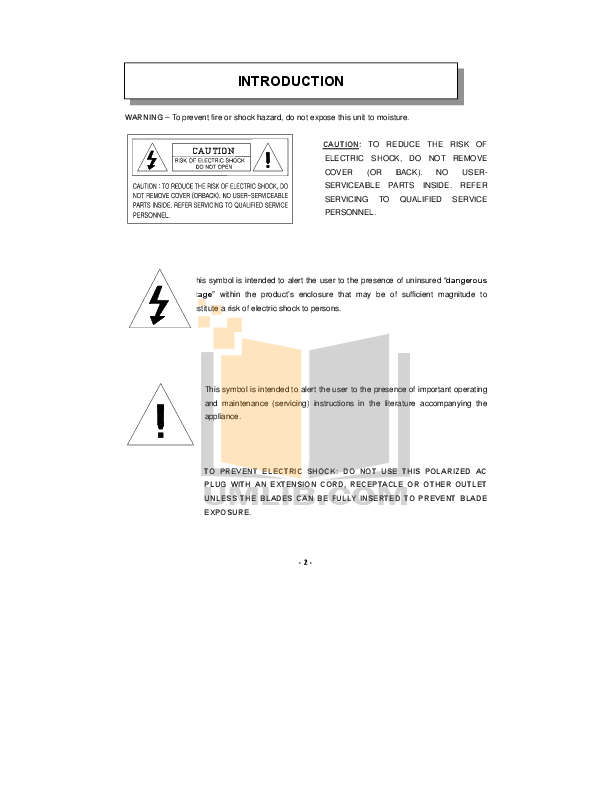 Audiovox TV VE700 pdf page preview