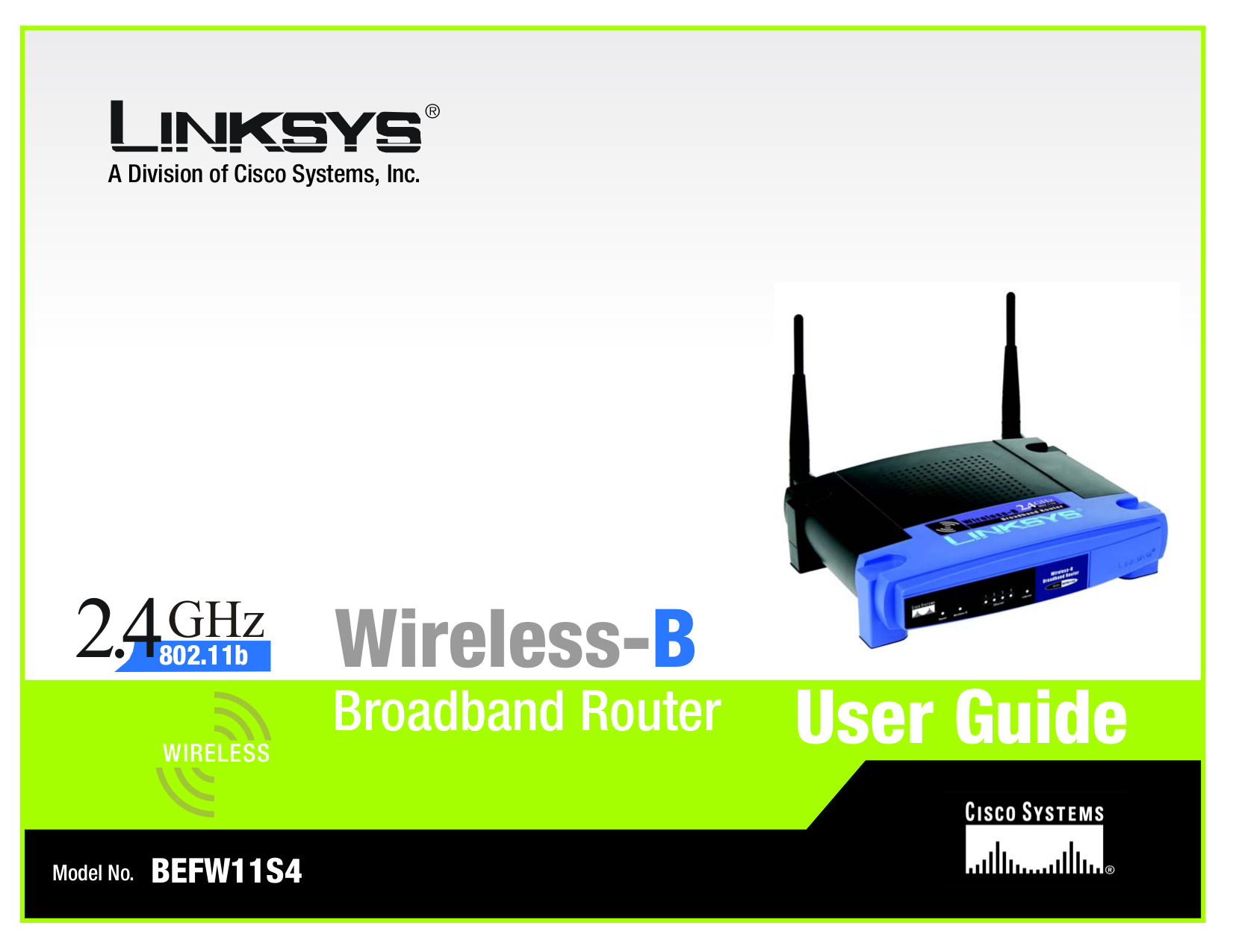 pdf for Linksys Wireless Router BEFW11S4-AT manual