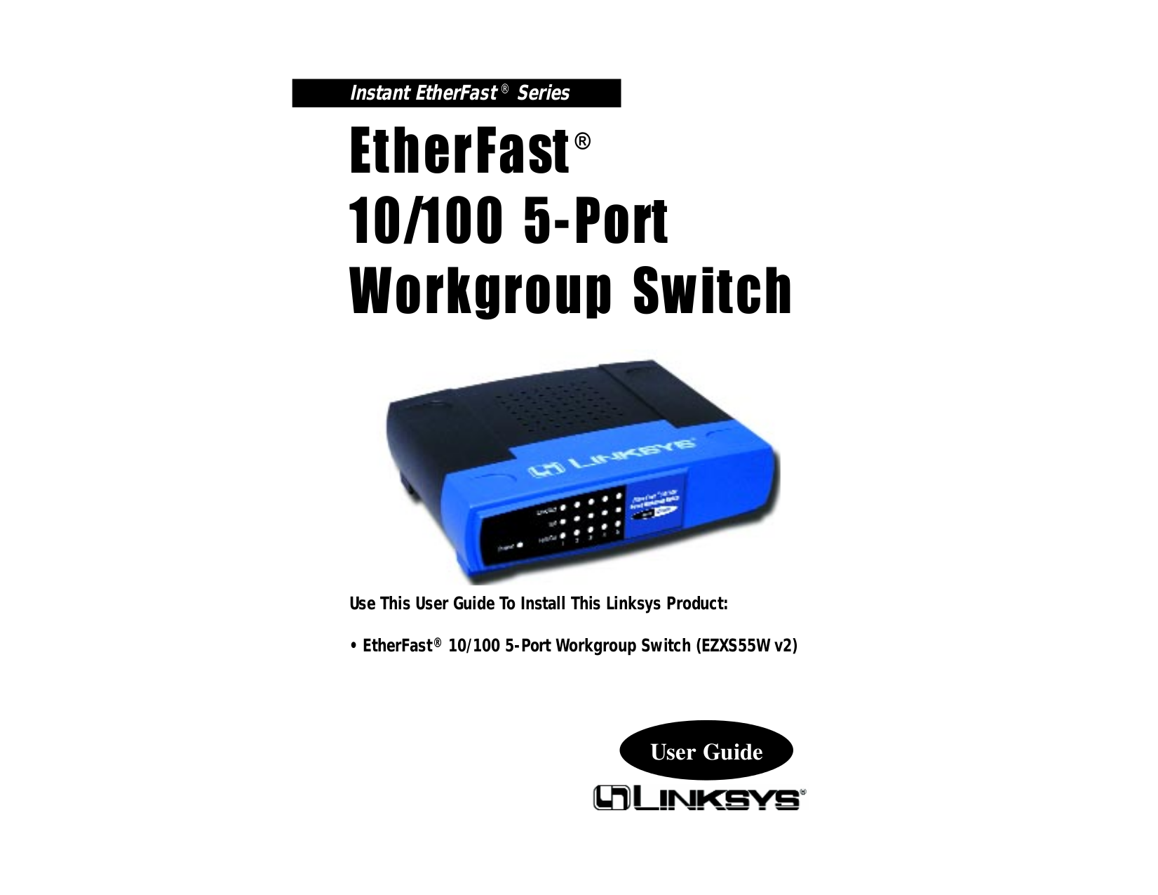 pdf for Linksys Switch EZXS55W manual