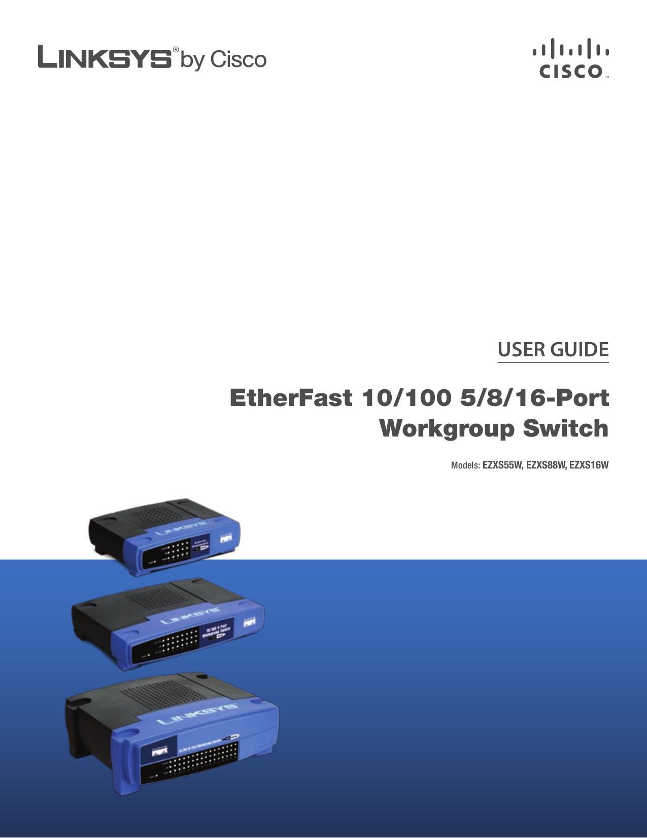 download free pdf for linksys ezxs55w switch manual rh umlib com Linksys EZXS55W Driver Linksys Port Switch 10