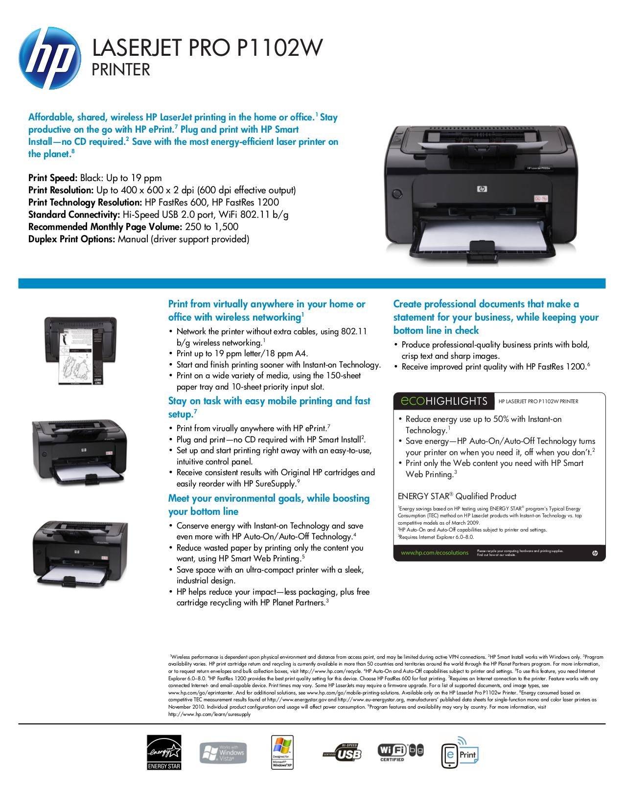 Hp printers user manual.