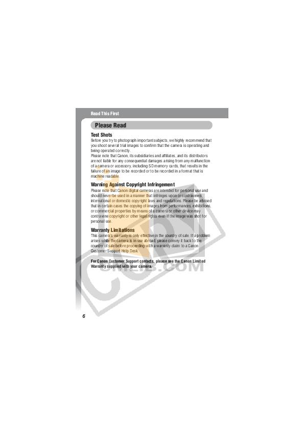 Canon Digital Camera IXUS II pdf page preview