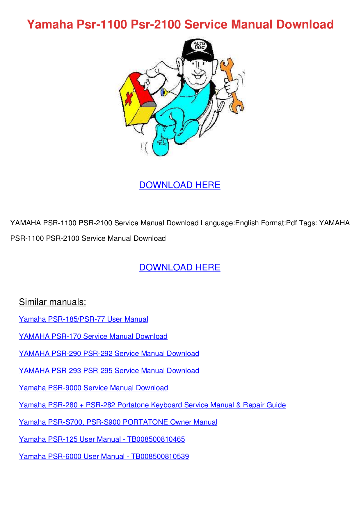 pdf for Yamaha Music Keyboard PSR-GX76 manual