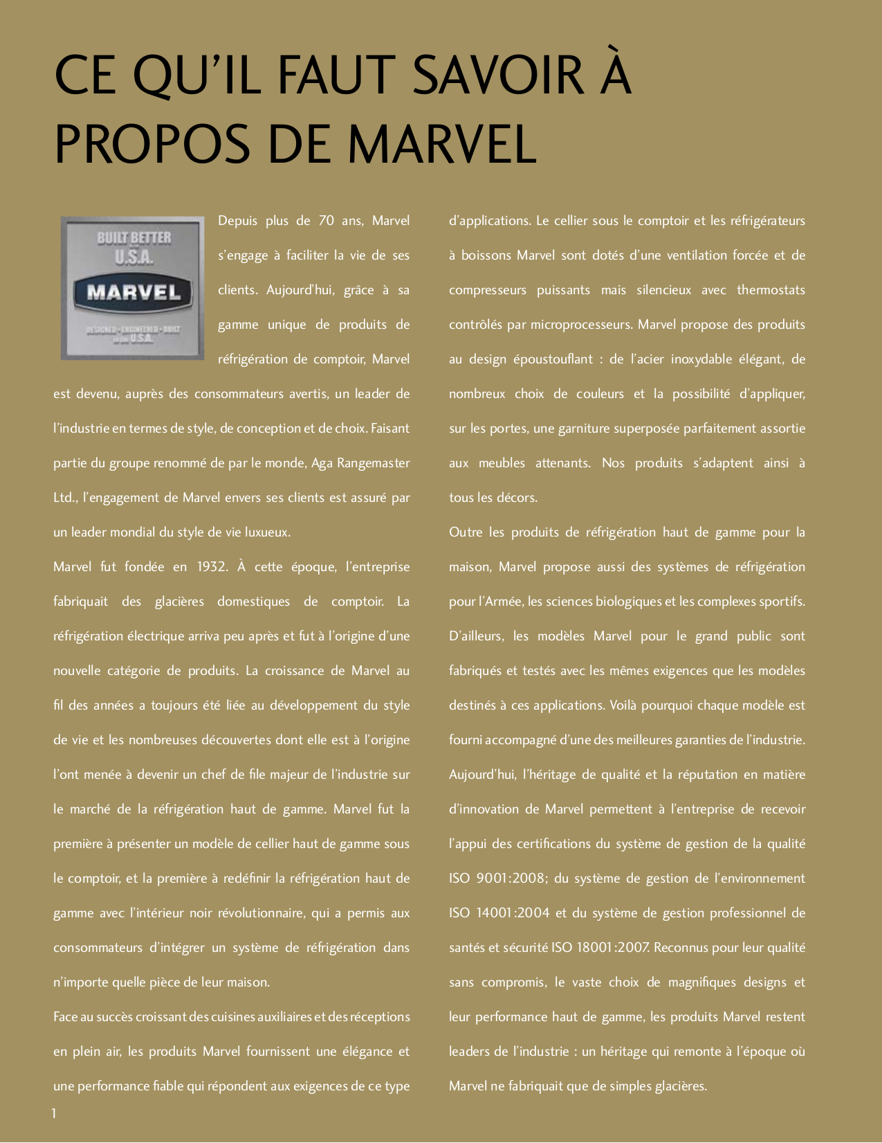 Marvel Refrigerator 80RF-BB-F pdf page preview