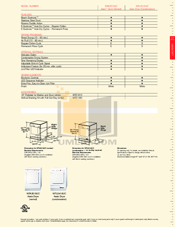 pdf manual for bosch dryer axxis wtl5410uc rh umlib com Operators Manual User Manual PDF